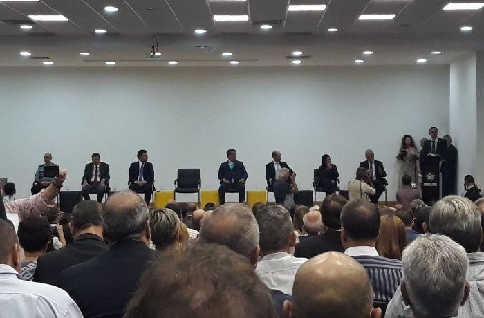 A cerimônia de posse foi realizada na Cidade da Polícia / (Foto: Ana Lícia Soares)