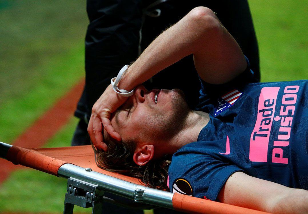 Filipe Luis evita lamentar lesão