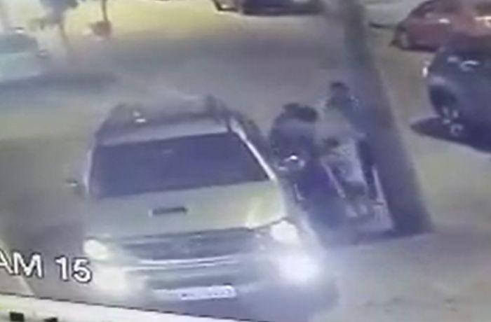 Câmera de segurança registra empresário sendo baleado