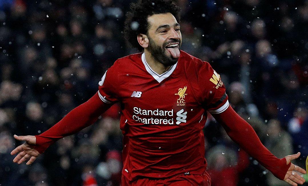 Salah dá show, marca quatro gols e Liverpool goleia Watford