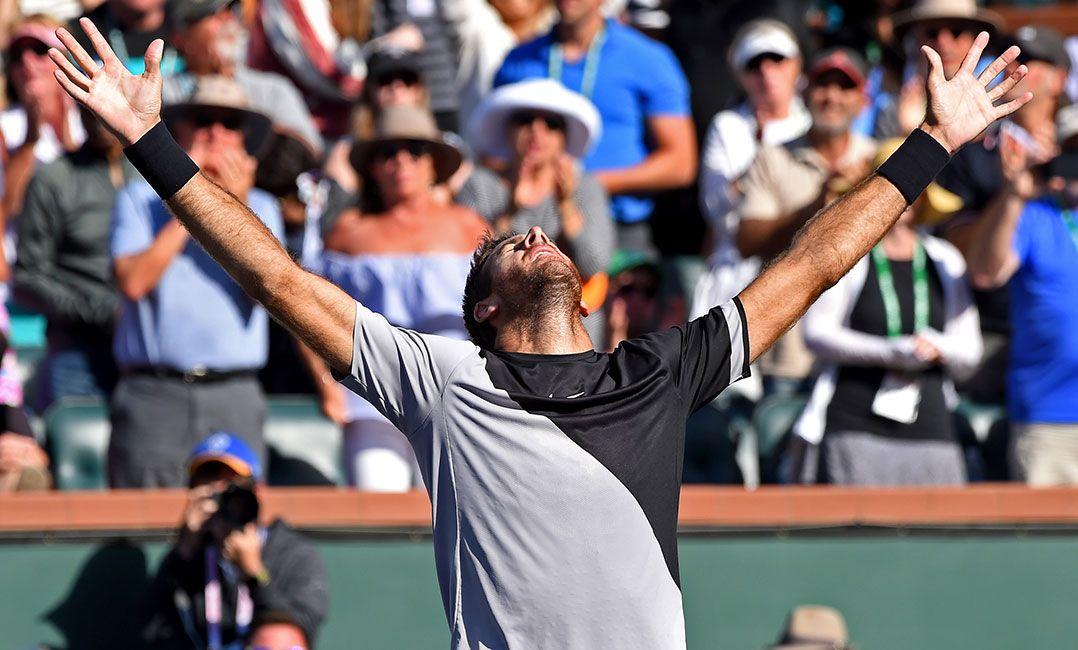 Não acredito que venci o torneio contra o Federer, vibra Delpo