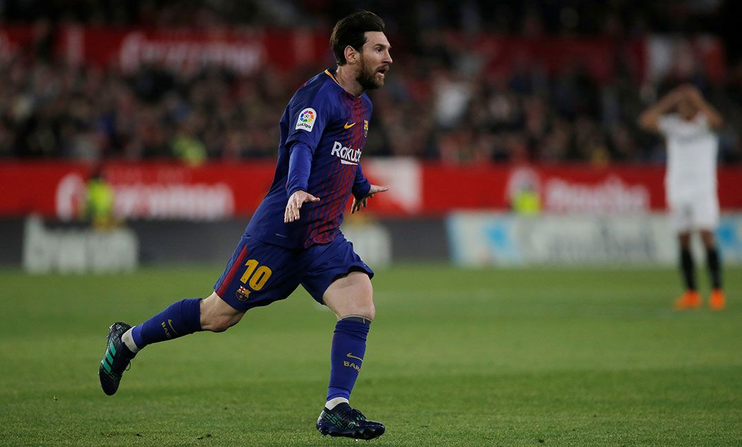 Messi comemora ao empatar o jogo para o Barcelona (Foto  Jon  Nazca Reuters). A invencibilidade do Barcelona no Campeonato Espanhol ... 280507b84db26