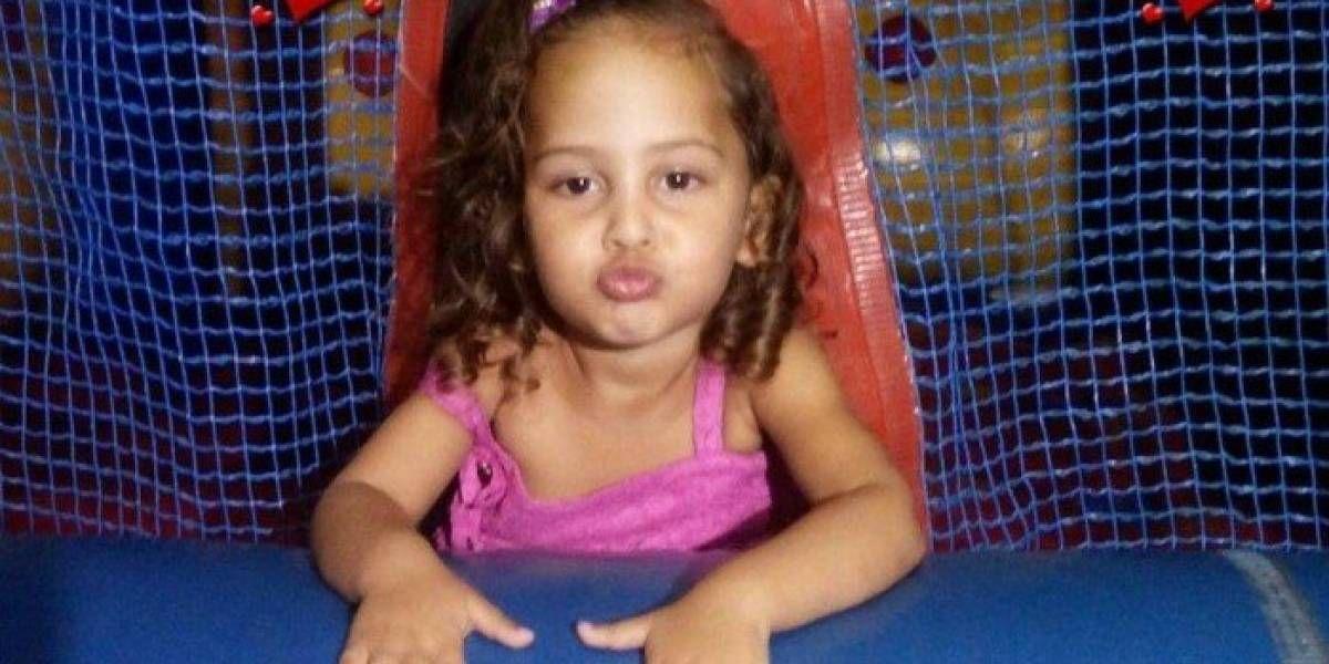A menina tinha apenas 2 anos de idade / Reprodução