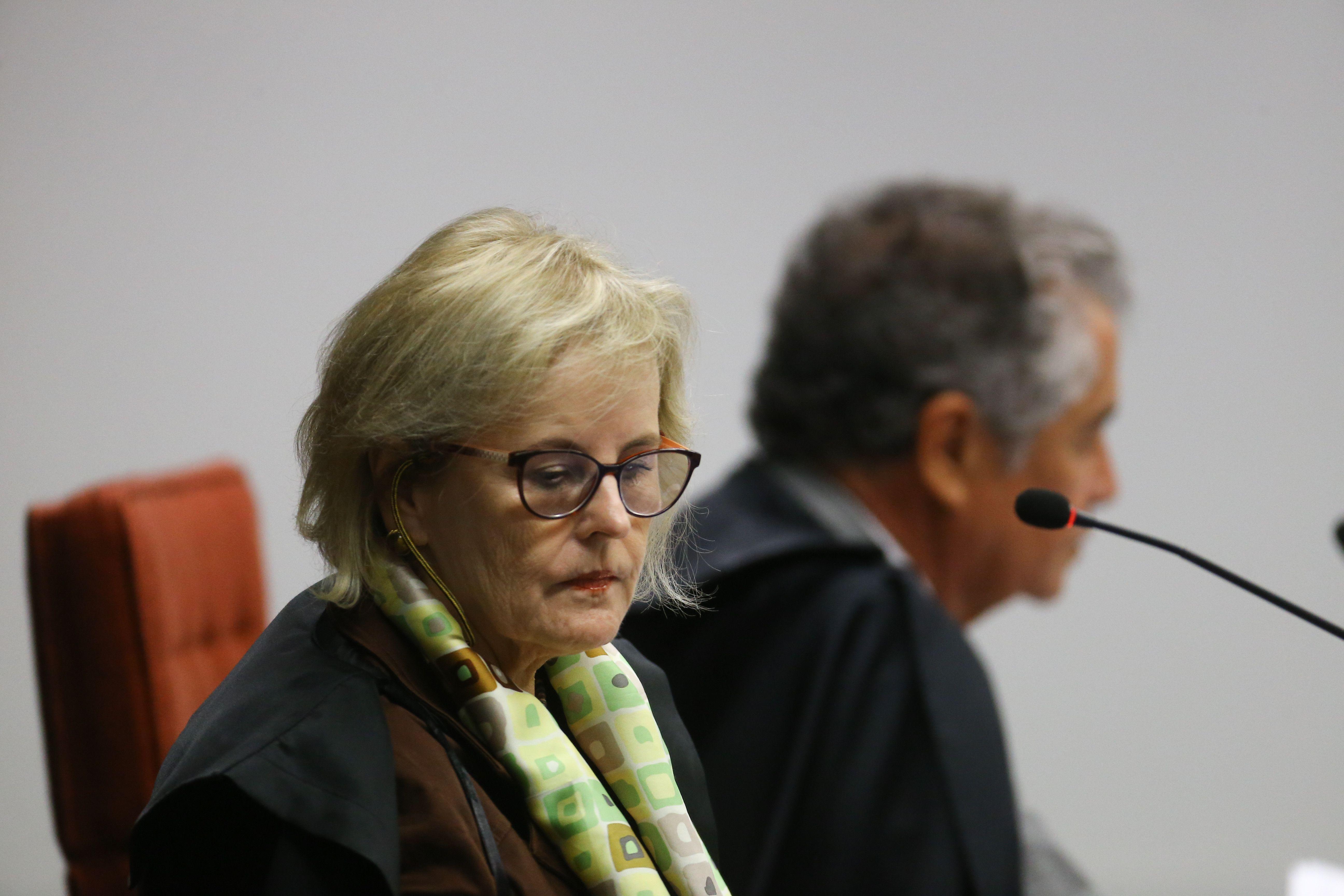 A ministra Rosa Weber durante sessão da Segunda Turma do Supremo Tribunal Federal