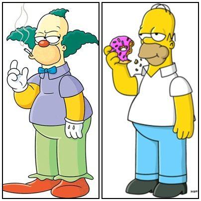 Krusty e Homer / Divulgação