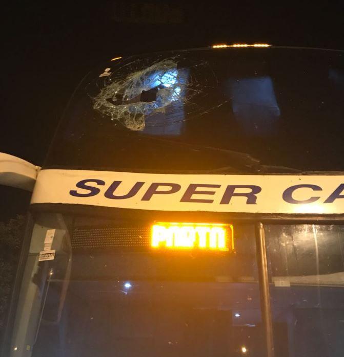 Não há registro de outros passageiros feridos durante a troca de tiros / Divulgação/PRF