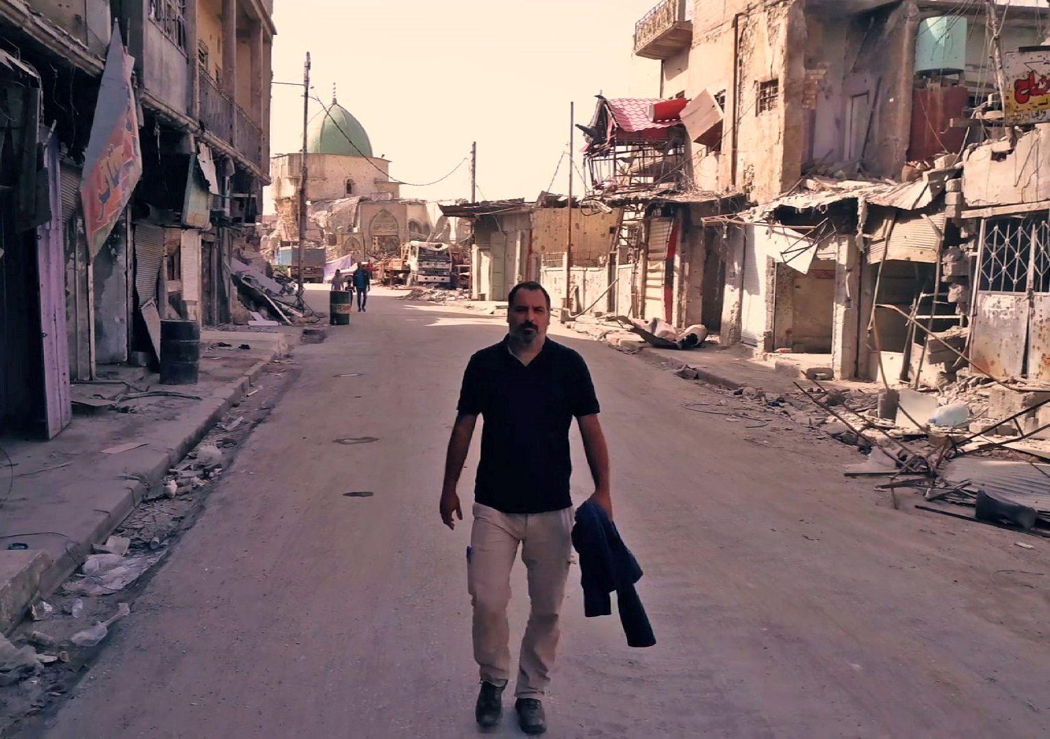 Yan Boechat no Iraque / Divulgação