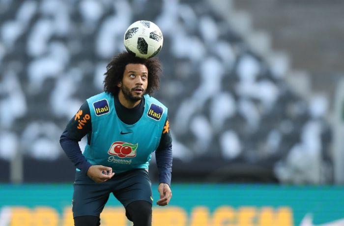 Marcelo é um dos três jogadores que se apresenta somente após a final da Liga do Campeões  / Lucas Figueiredo/CBF