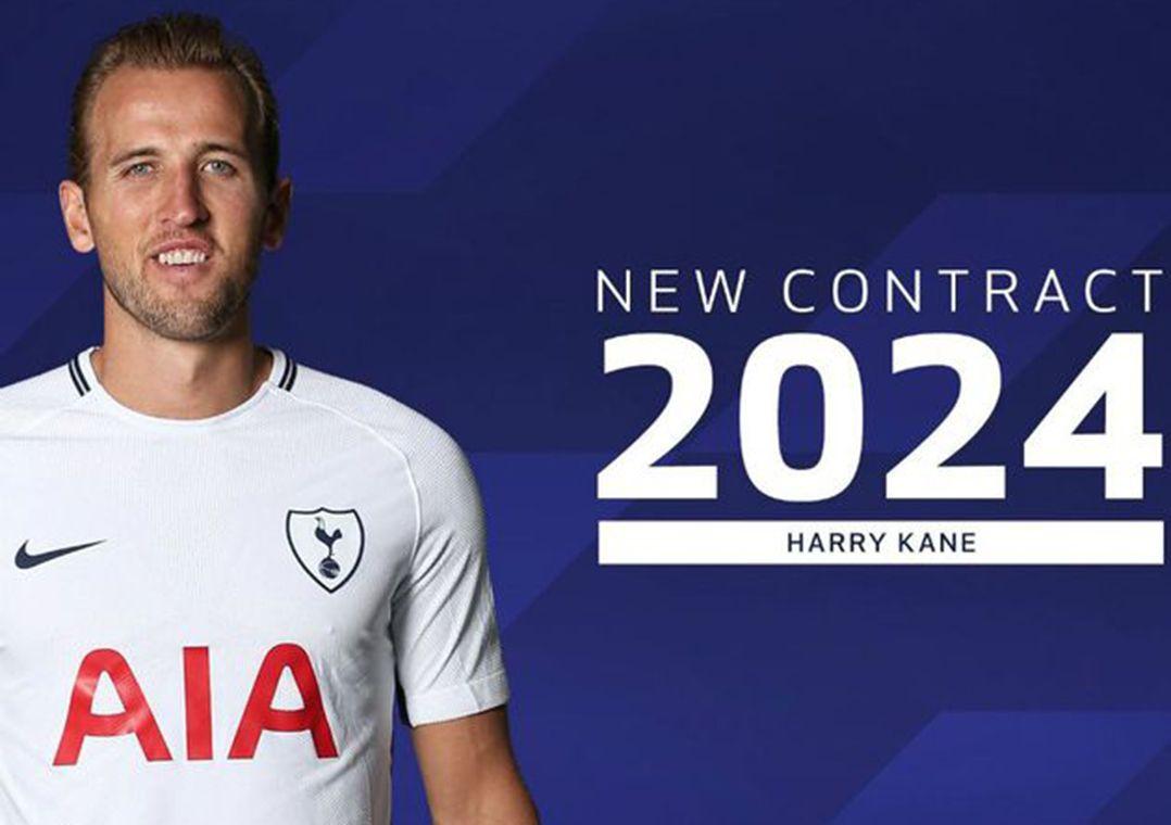Harry Kane renova com o Tottenham e assina contrato para até 2024 ... 4b079a6dfbdac