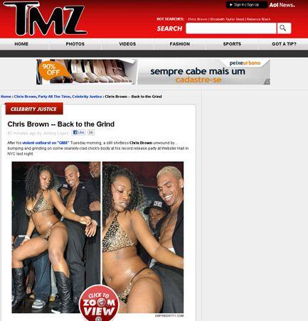 Chris Brown faz dança sensual em festa