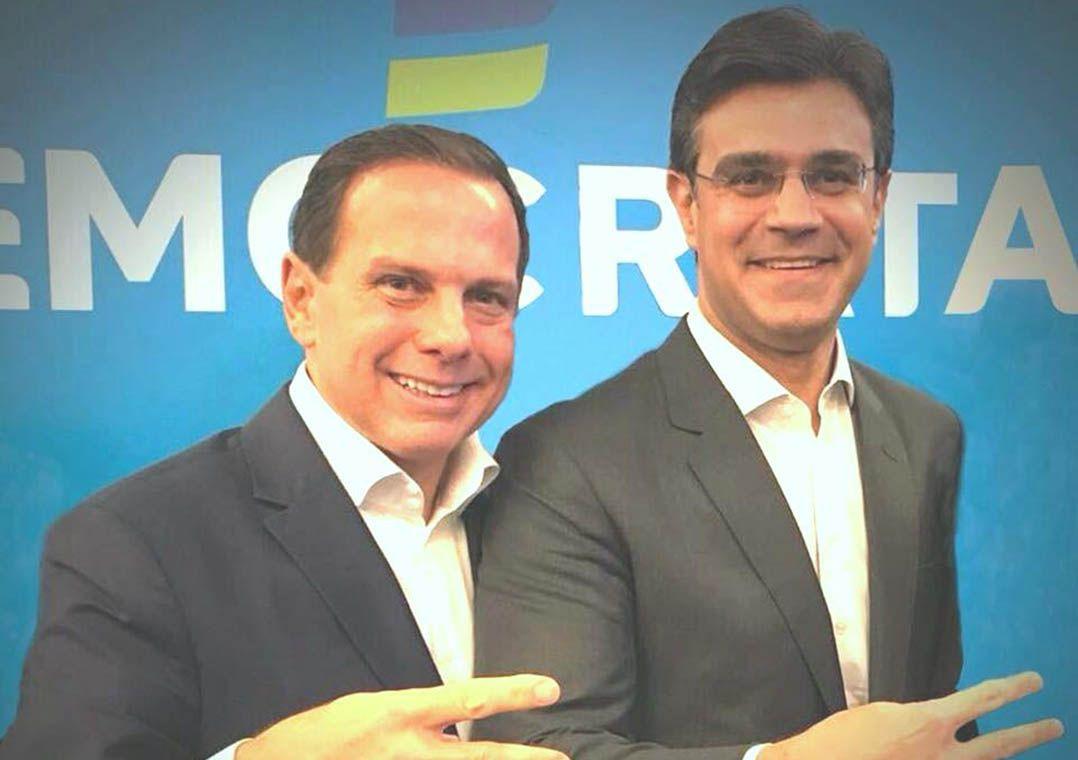 Doria escolhe Rodrigo Garcia (DEM) como candidato a vice em SP