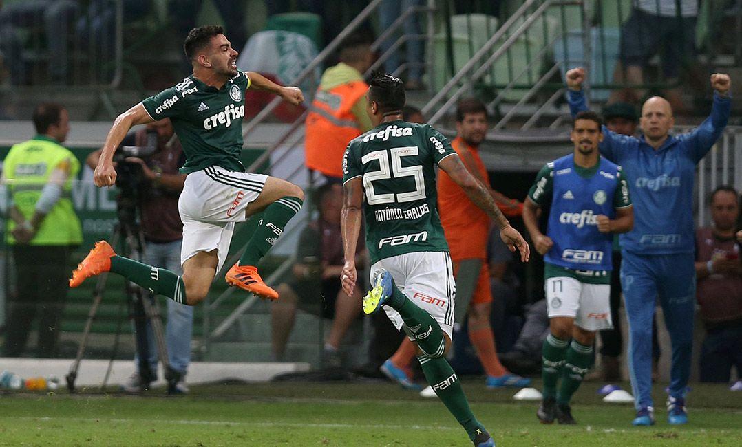 Bruno Henrique marca no fim e Palmeiras bate o Galo