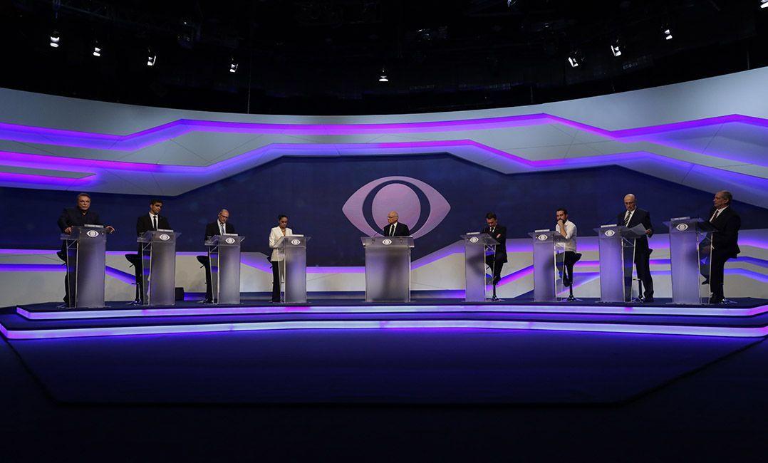 Bancada do debate presidencial / Divulgação