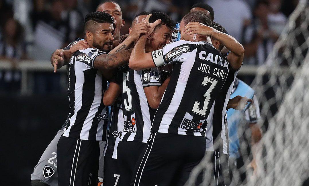 Jogadores do Botafogo comemoram classificação na Sul-Americana (Foto   Alexandre Brum Agência O Dia Estadão Conteúdo) 099b614319ec0