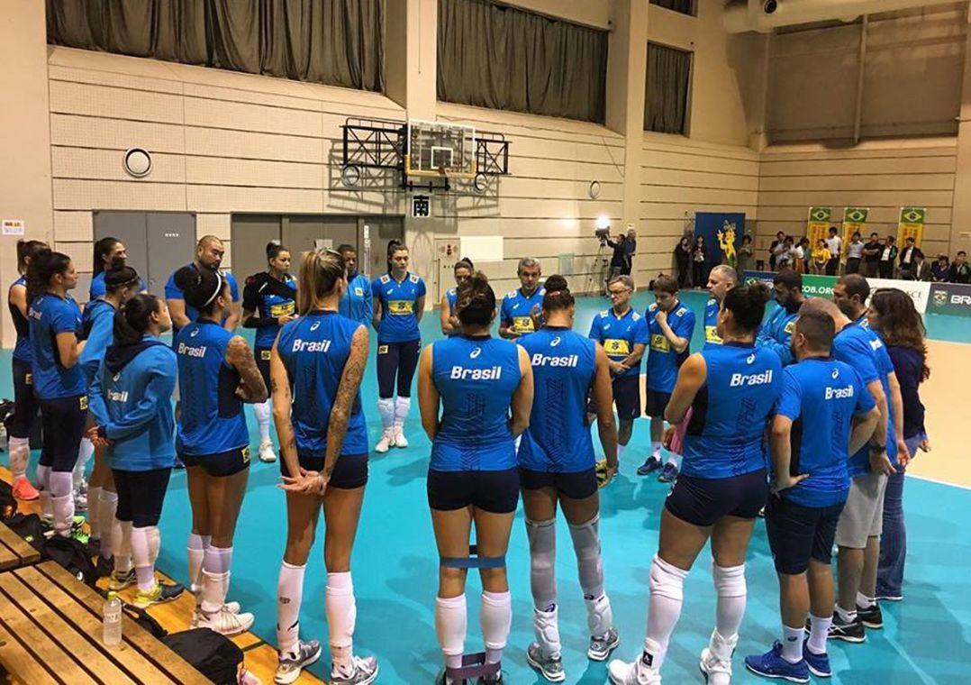 Seleção feminina faz primeiro treino no Japão para o Mundial