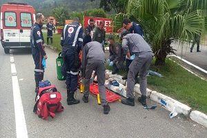 Acidente na Floriano deixa uma vítima grave