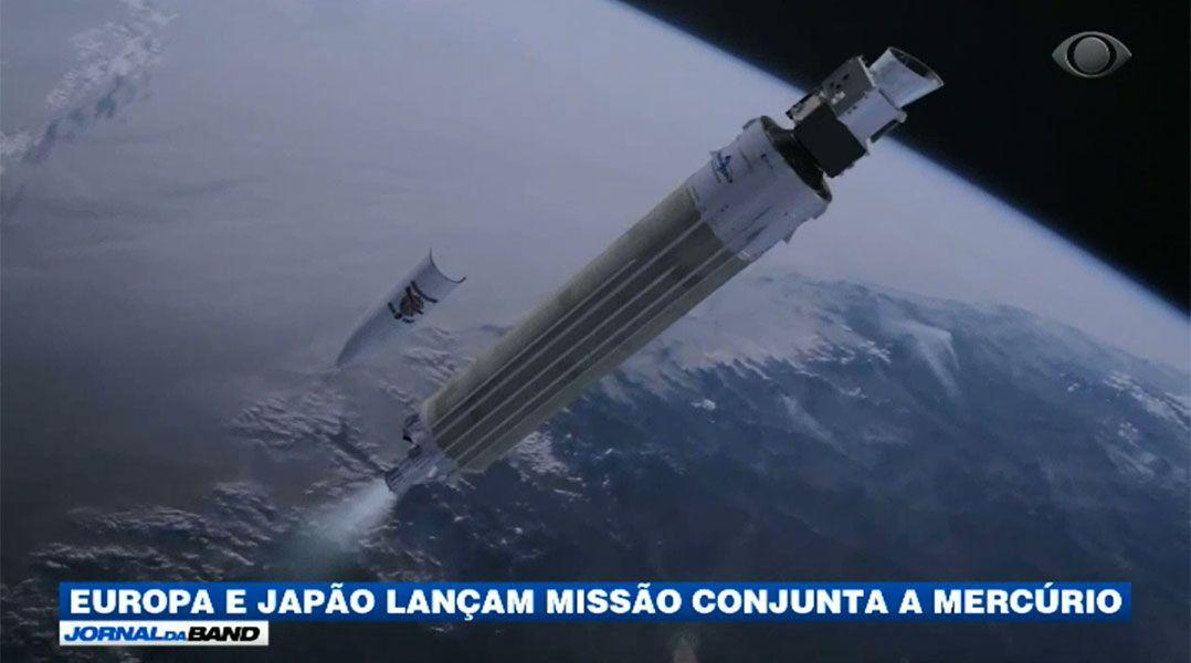 Astrônomos do Japão e da Europa lançam foguete em missão a Mercúrio