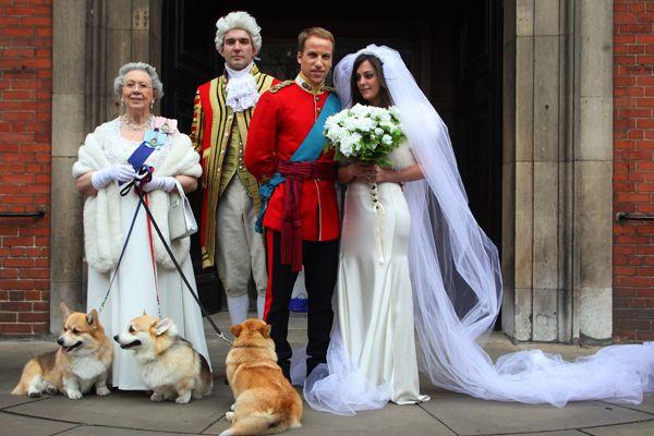 decoracao do casamento de kate middleton:Casamento de mentirinha em Londres / Foto: Geoff Caddick/AFP