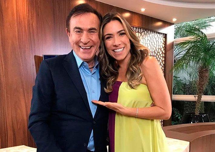 Amaury Jr. recebe a apresentadora Patricia Abravanel