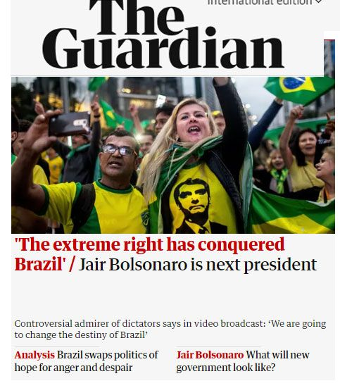 Bolsonaro no The Guardian