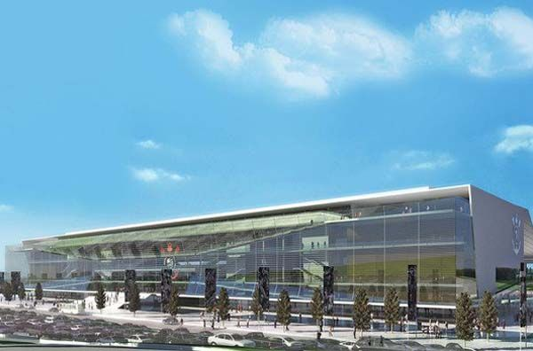 Projeto do estádio do Corinthians, palco paulista para a Copa 2014
