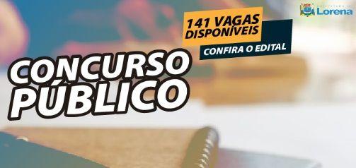 Lorena abre 141 vagas para Concurso Público