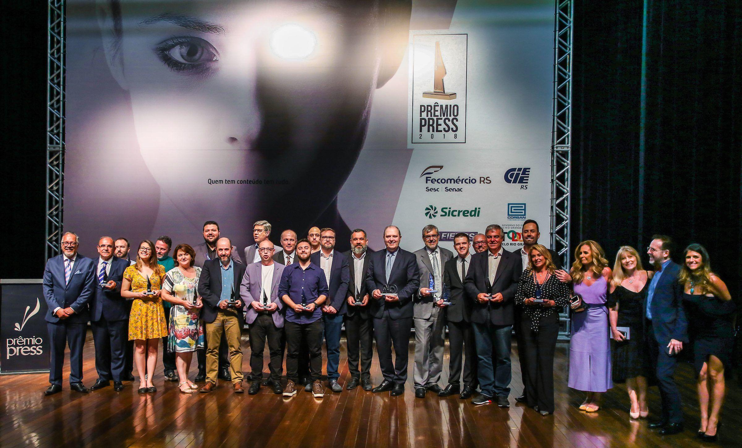 Band RS conquista seis categorias do Prêmio Press 2018