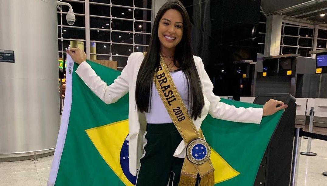 Mayra Dias embarca para a Tailândia rumo ao Miss Universo