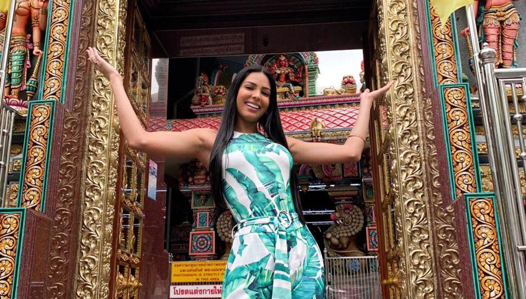 'O clima está tranquilo', diz Miss Brasil direto da Tailândia