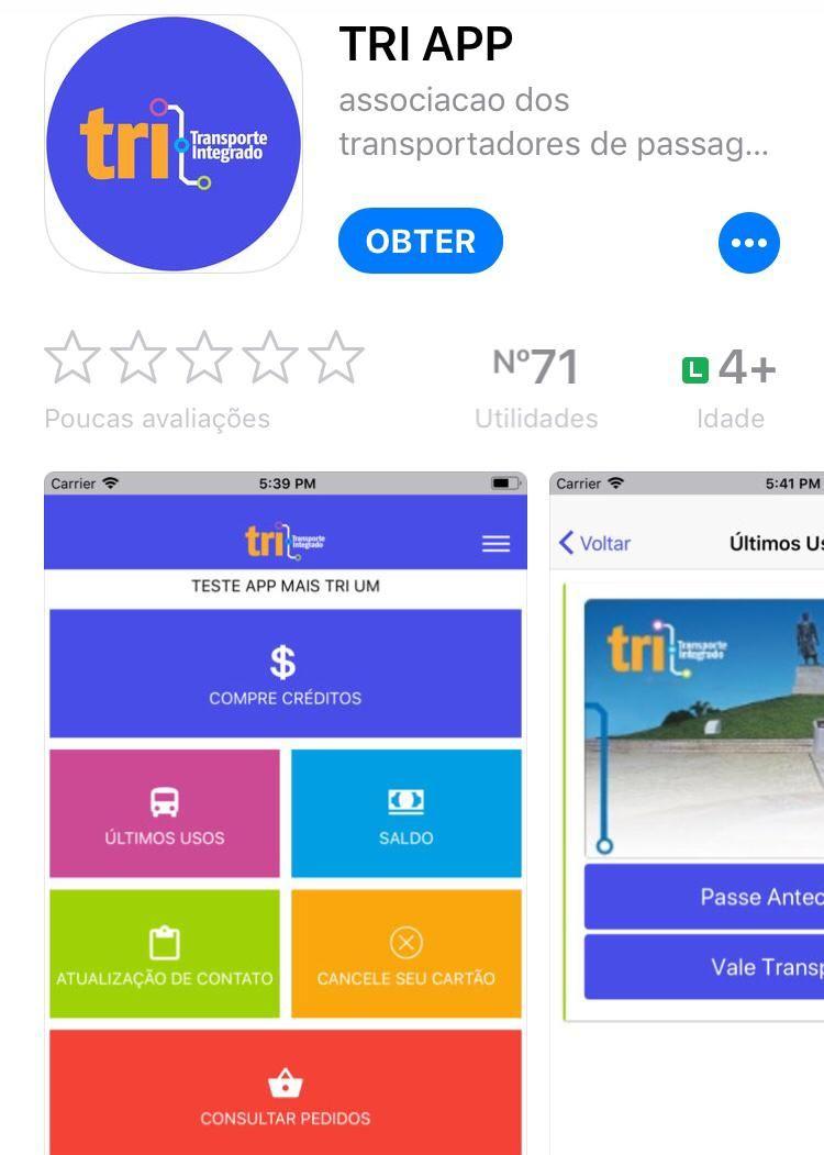 Novo aplicativo do cartão TRI permite recarga pelo celular
