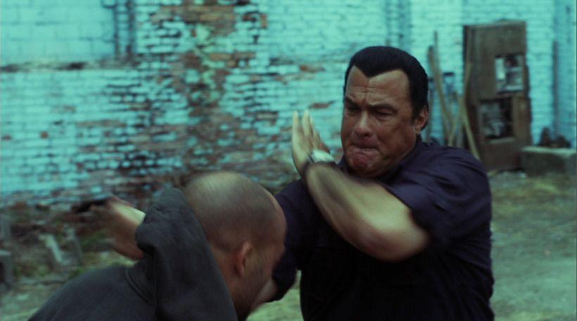 Seagal versus Van Damme na casa de Stallone!