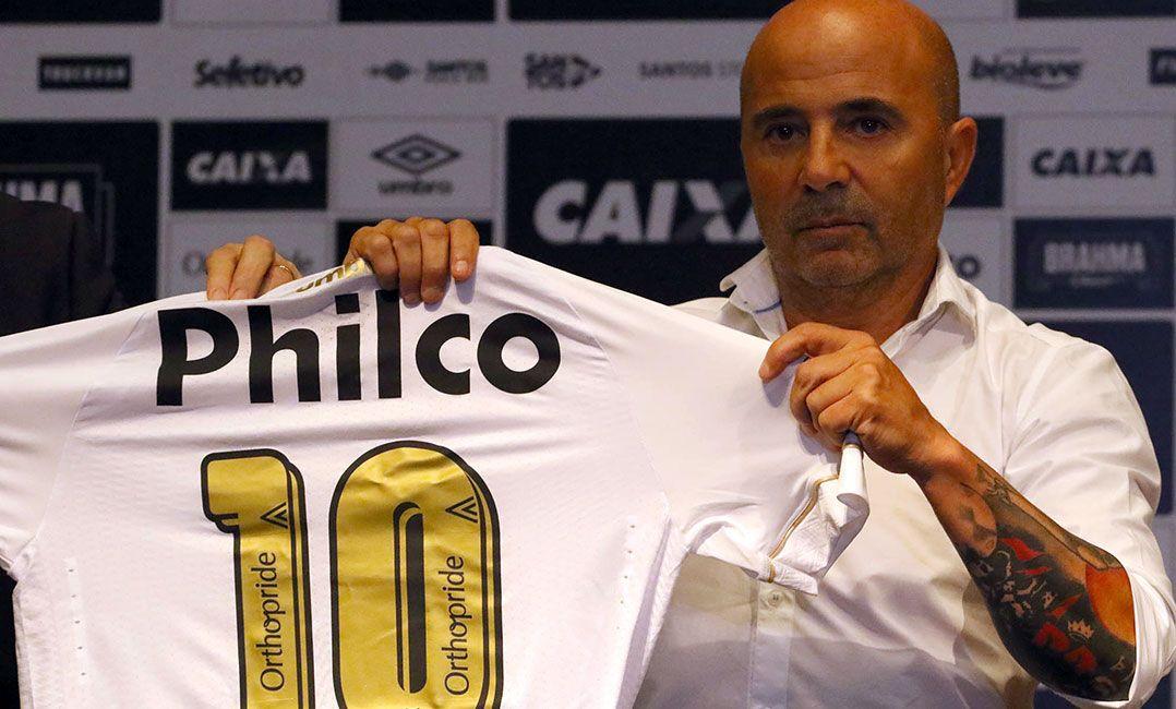 Sampaoli cita Pelé e Neymar e diz que Santos precisa jogar no ataque