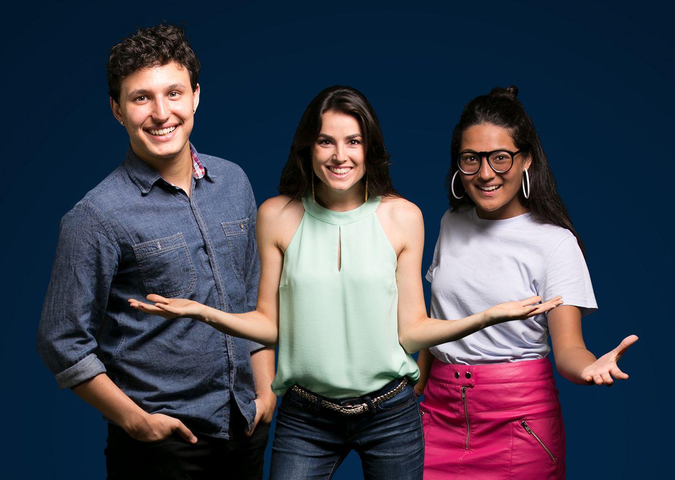 Bia, Isadora e Marcelo são os apresentadores do programa / Divulgação