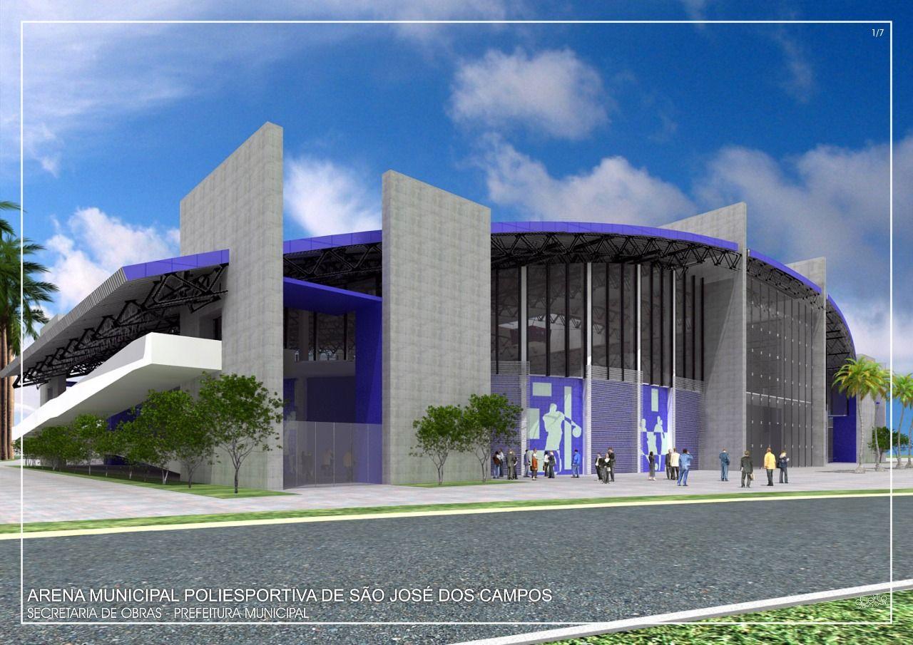 Obra da Arena Poliesportiva será retomada em São José dos Campos
