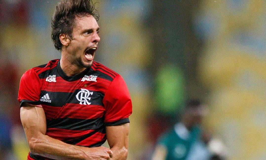 Rodrigo Caio comemora o seu primeiro gol pelo Flamengo (Foto  Marcelo De  Jesus Raw Image Estadão Conteúdo) c83e8c6965e36
