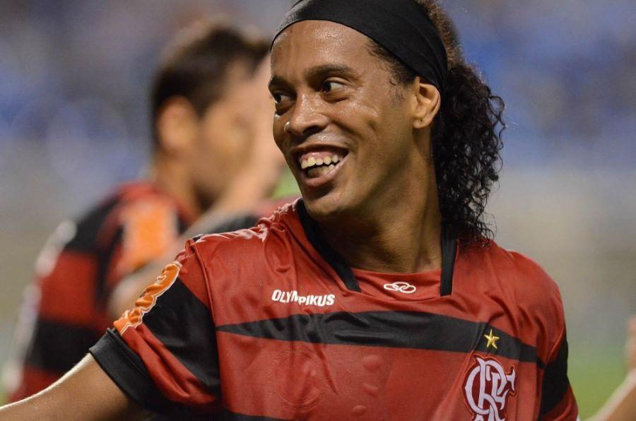 Ronaldinho Gaúcho ficou fazendo musculação na academia do clube / Foto: Fábio Borges/Vipcomm