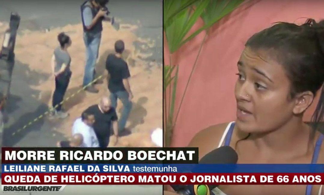 Testemunha disse ter presenciado o momento do acidente. Foto: Reprodução/Brasil Urgente
