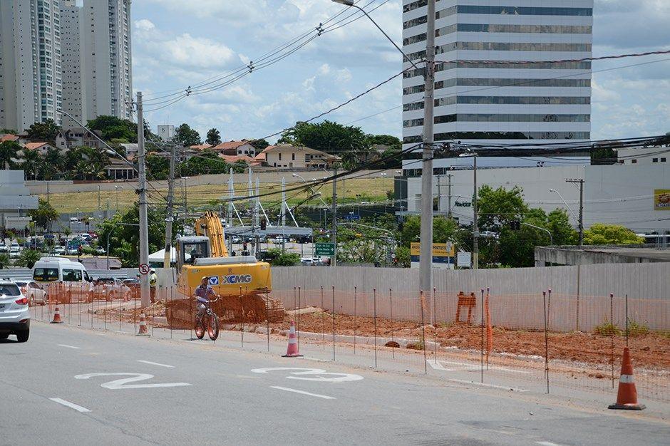 Obras da Ponte estaiada chegam à Avenida Jorge Zarur
