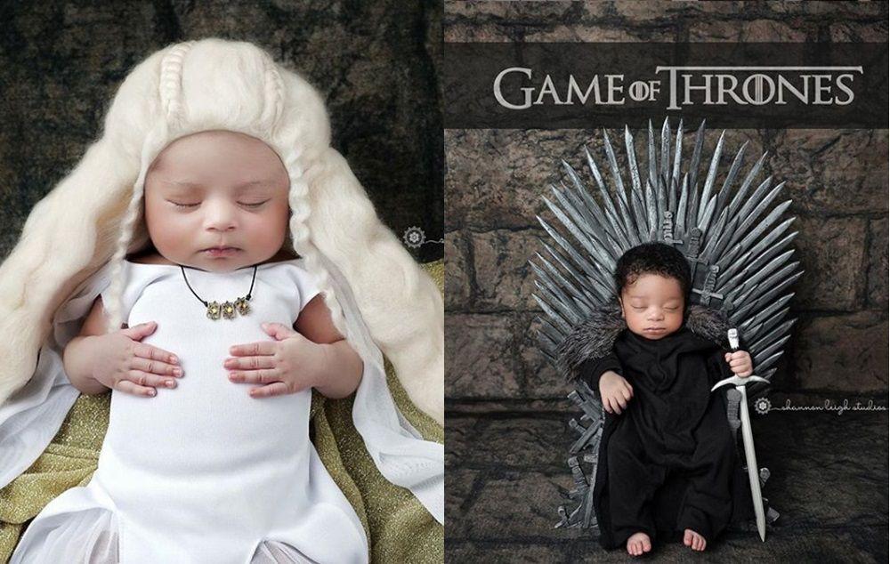 Fotógrafa faz ensaio de bebês vestidos como personagens de GoT