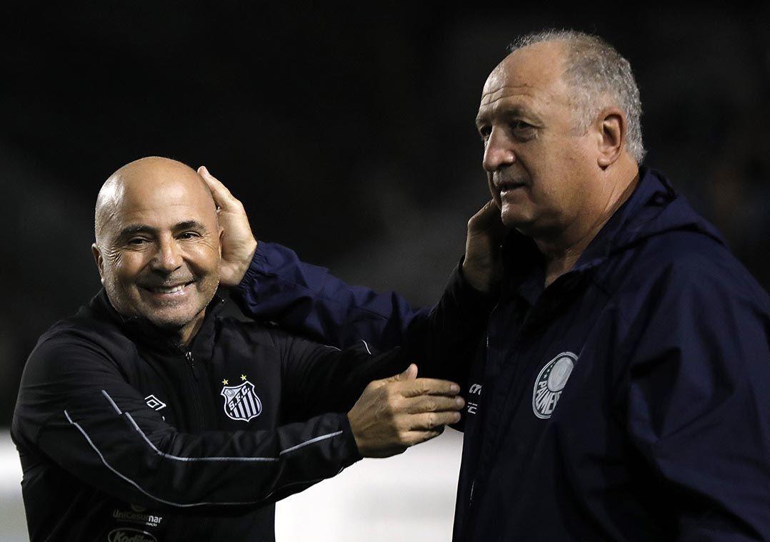 Após goleada, Felipão diz torcer pelo sucesso de Sampaoli