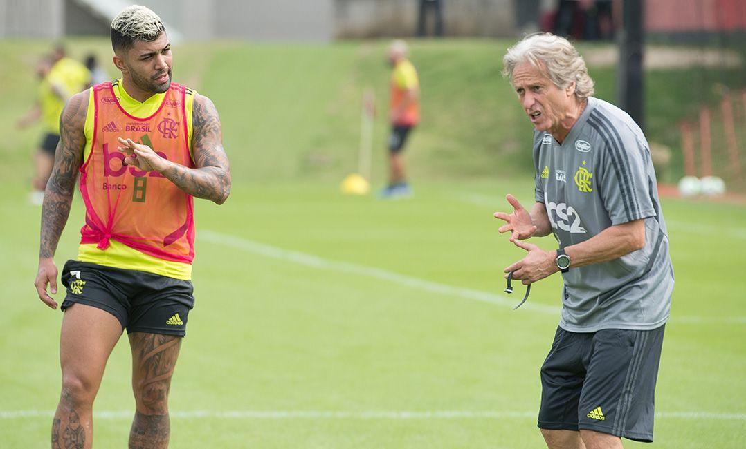79263961e9 Jorge Jesus comanda o 1º treino no Flamengo e pede: É ganhar e ganhar