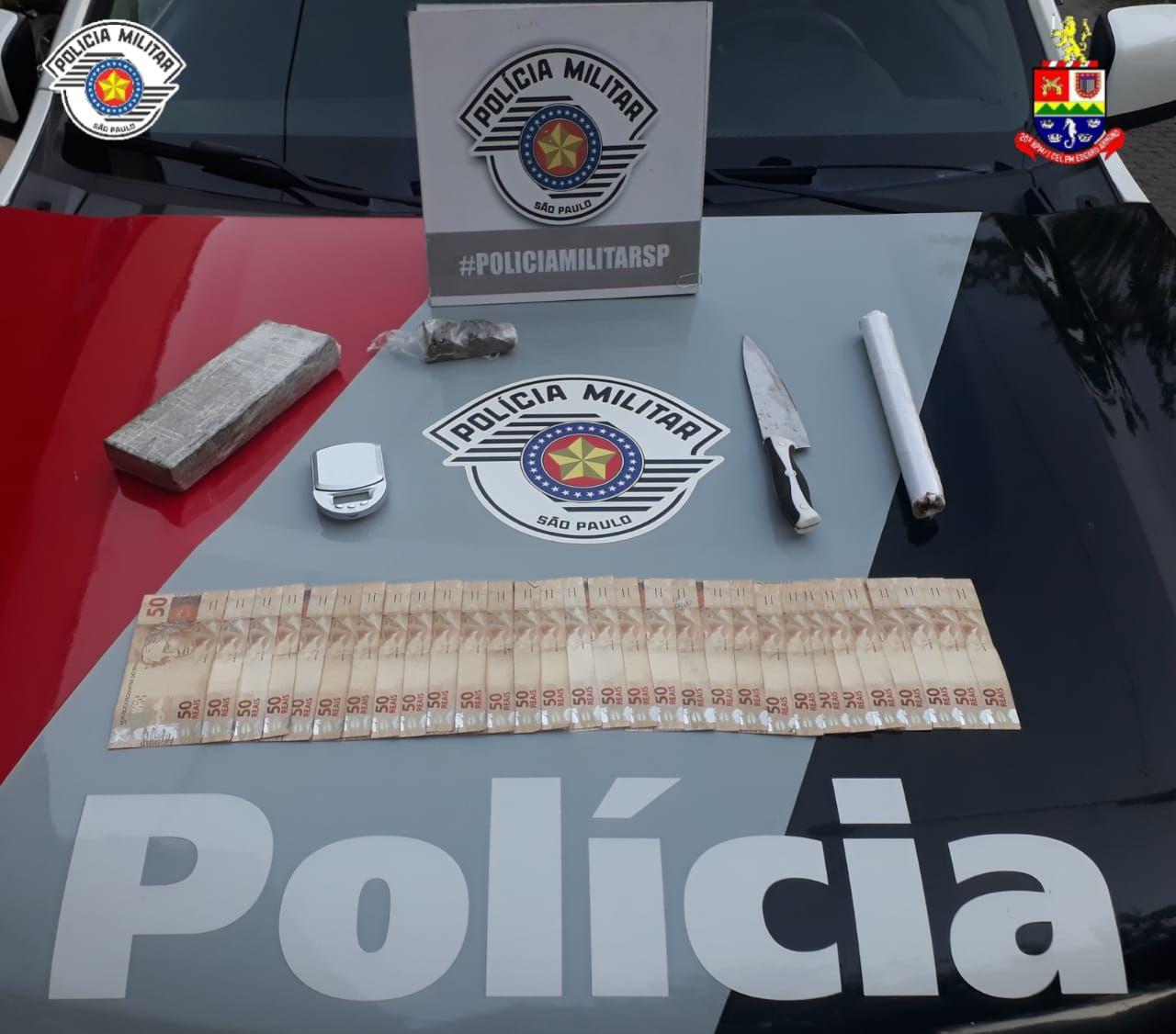 Conteúdo encontrado pela Polícia Militar  / Divulgação/Polícia Militar