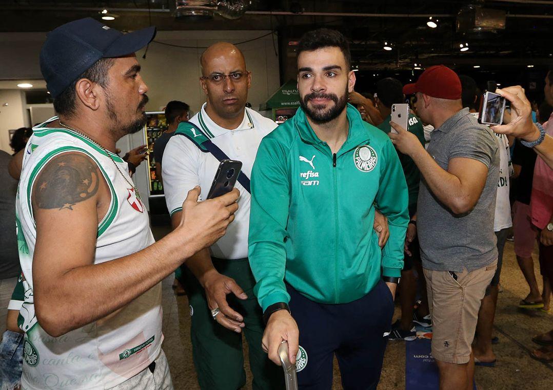 Torcida reclama da eliminação para o Inter na Copa do Brasil / Cesar Greco/Ag Palmeiras/Divulgação