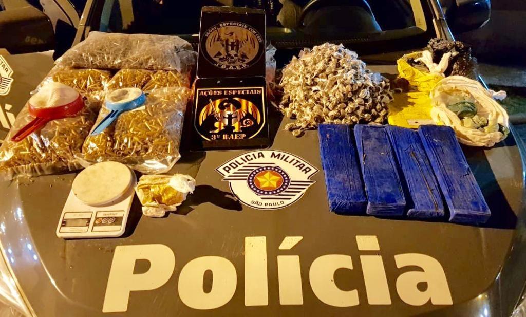 Jovem de 17 anos é detido com cerca de seis quilos de drogas