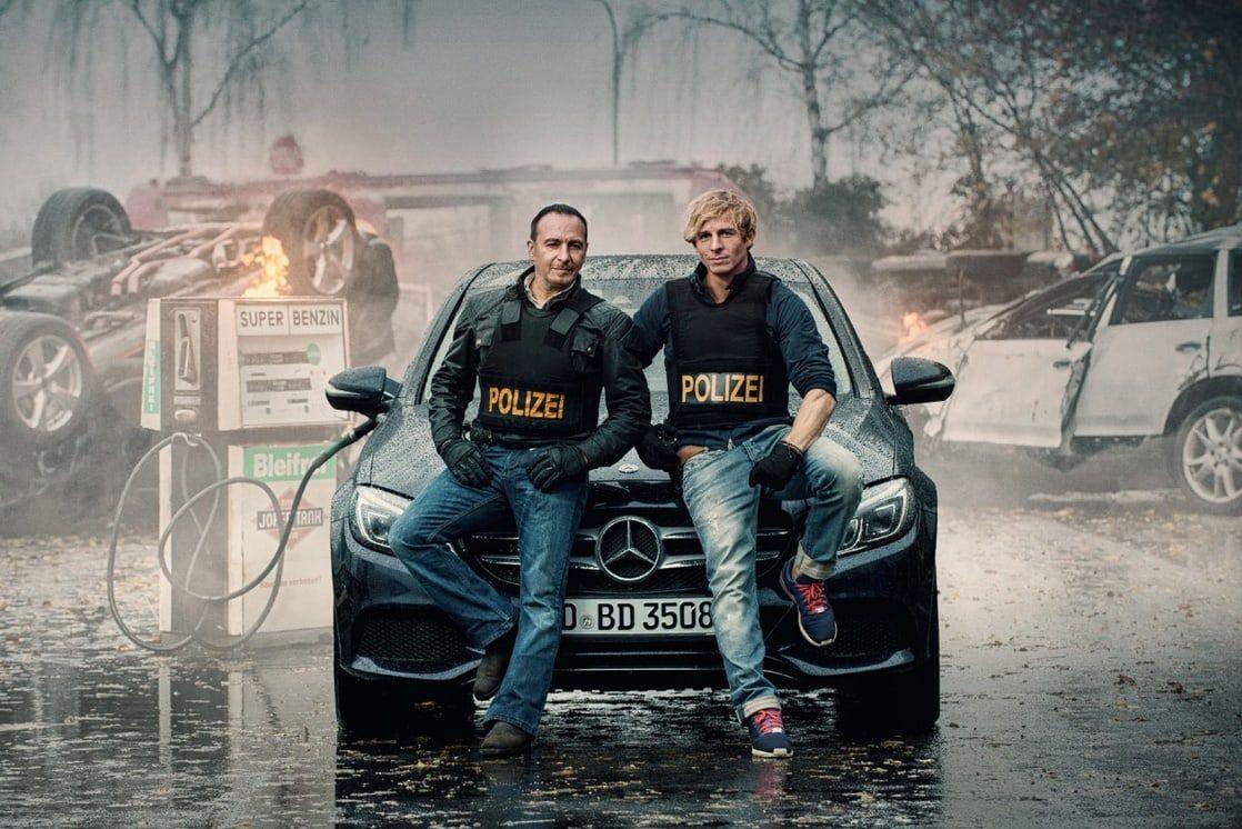 Erdogan Atalay e Daniel Roesner interpretam os detetives Gerkhan e Renner, respectivamente / Divulgação