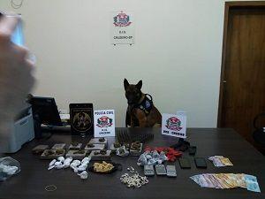 Trio é detido com 4Kg de drogas e munições em Cruzeiro