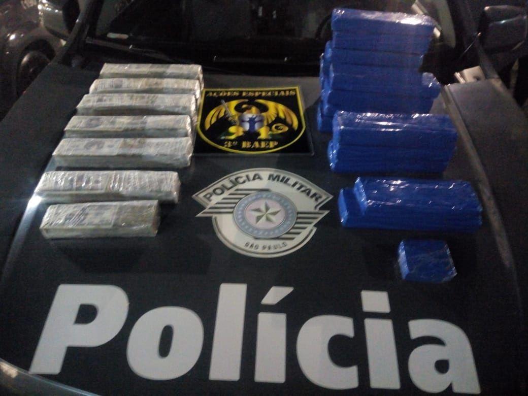 Mulher é presa após ser detida com 22 tijolos de Maconha em Jacareí