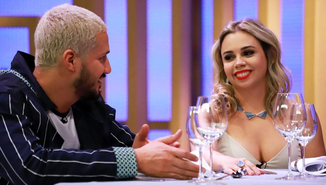 Rodrigo Massoni e Lorena Dayse experimentam menu dos chefs