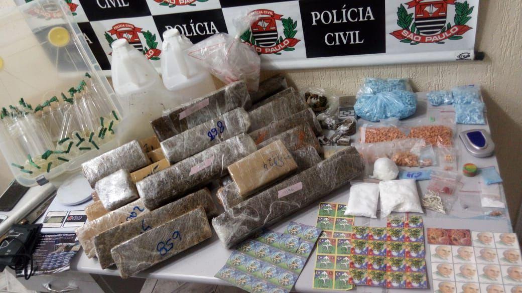 Polícia realiza operação contra entorpecentes em Guaratinguetá