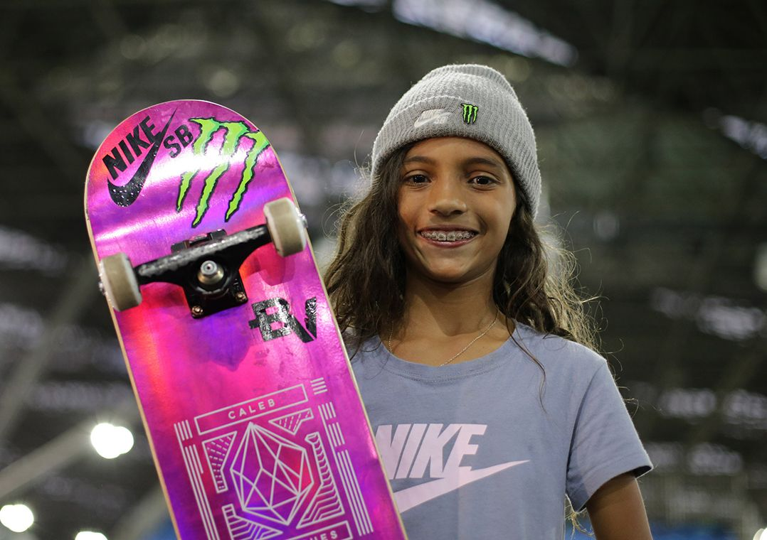 Aos 11 anos, Rayssa Leal atrai holofotes no Mundial de Skate Street